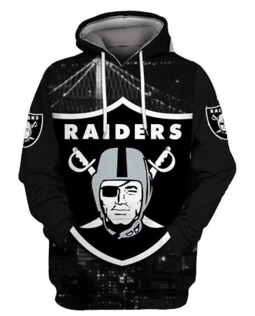 2020 Men's Fashion With Hat Raiders 3D Print Hooded Pullover Unisex Clothing Ame