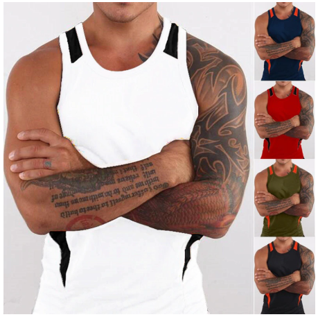 ZOGAA Summer Tank Top Men Sleeveless Undershirt Casual Patchwork O-Neck Vests Ma