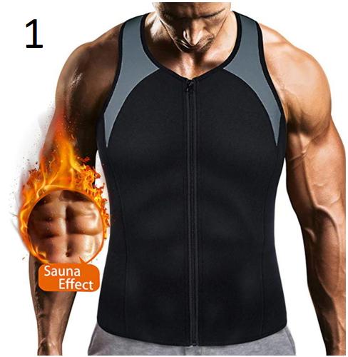Puimentiua Sauna Vest for Men Sweat Shirt Waist Trainer Body Shaper Slimming Top