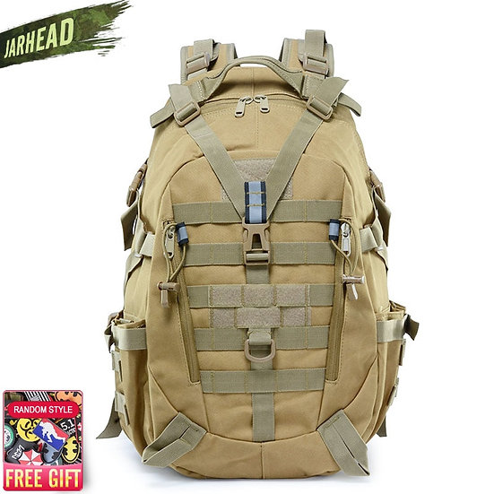 Tactical Reflective Backpack Outdoor Molle Camouflage Rucksack Military Assault