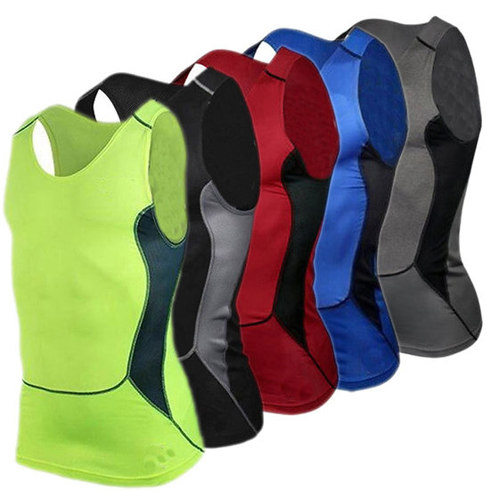 Men's Running Vest Sports Fitness Compression Sleeveless Tanks Quick Drying