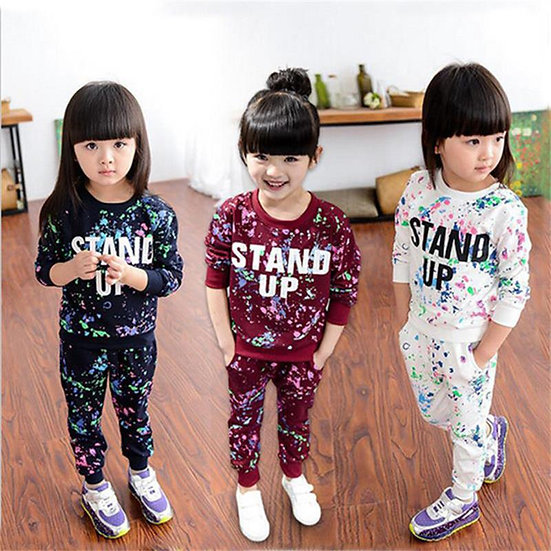 Toddler Girl Clothes Winter Kids Sport Suits Children Clothing Sets T-Shirt+Pant