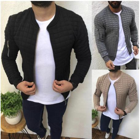 2020 New Hip Hop Men Sports Casual Wear Zipper Hooded Fashion Tide Jacquard Hood