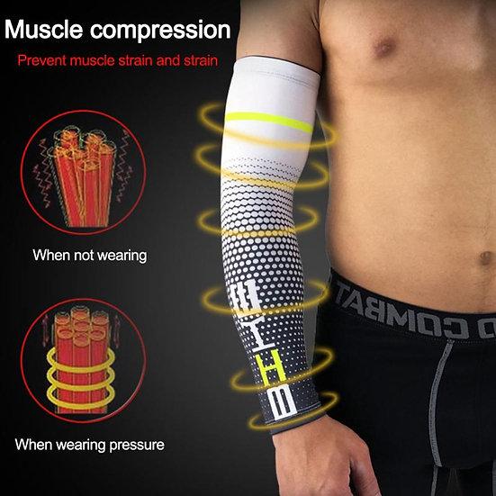 1PC Basketball Armguard Sports Protective Gear UV Quick Dry Arm Sleeve Protectin