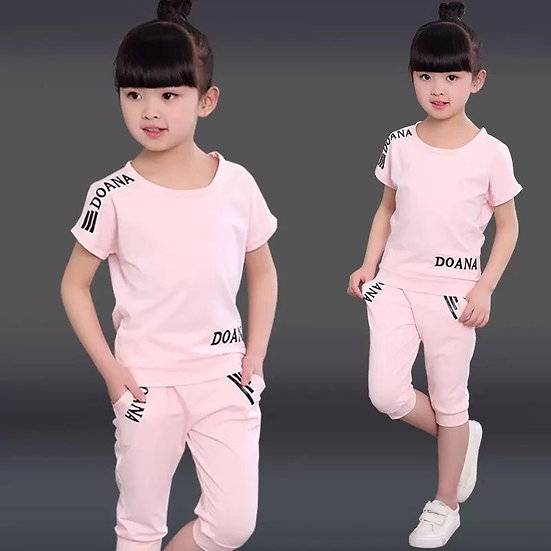 New Summer Girls Clothes Sets Children's Clothing Set  3 4 5 6 8 9 10 12 Years