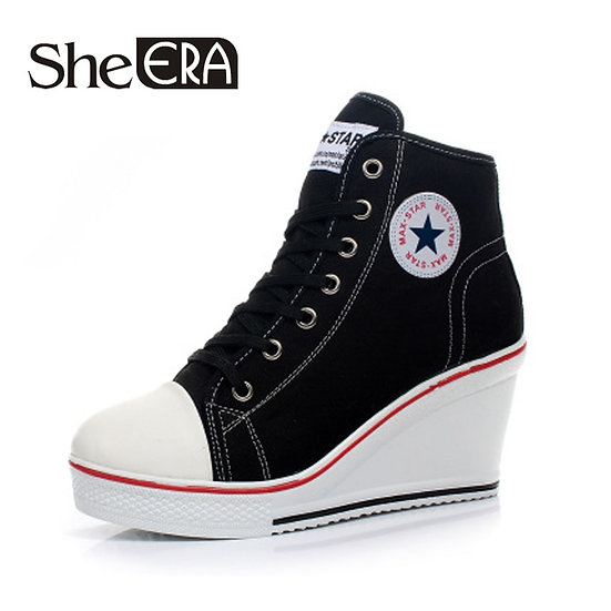 Women Classic Wedges Shoes High Top Pumps Women Casual Shoes Female Height