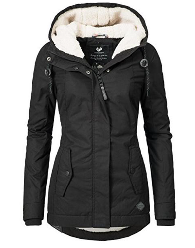 Winter Warm Coat Female Windproof Slim Outerwear Fashion Elastic Waist Zipper Po