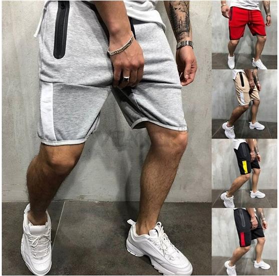 2019 New Summer Cotton Shorts Men Zipper Jogger Pants Man Board Shorts Gym Sport
