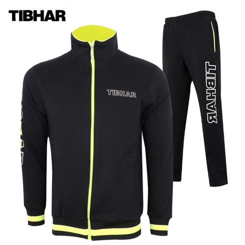 Genuine TIBHAR New Winter Jacket Training Suit with Trousers Table Tennis Jersey