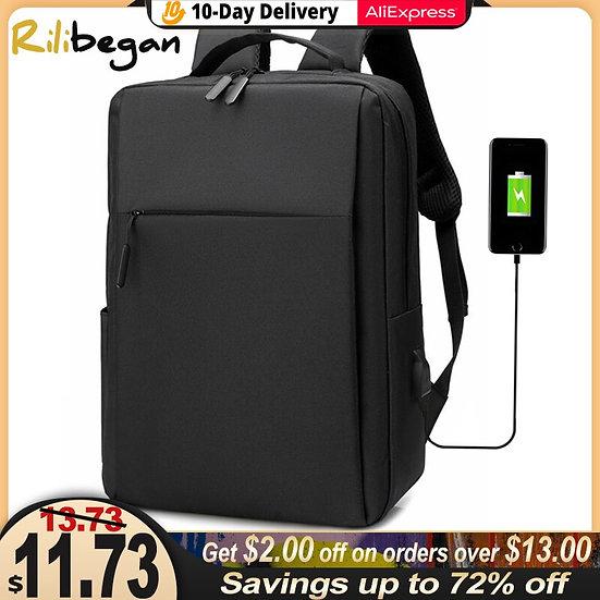 15.6 Inch Laptop Men Backpack Nylon Travel Male Laptop Backpack Usb Charging