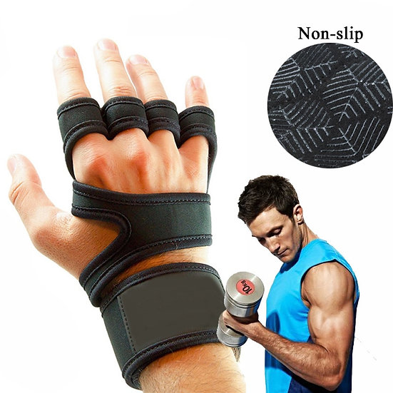 Men Fitness Weight Lifting Gloves Gym Gel Full Palm Protection Gym Workout