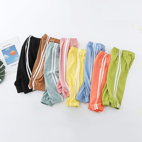 Summer Kids Cool Cotton Pants Children Casual Sportswear Baby Boy Girls Outfits