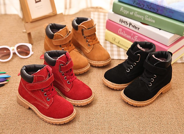 Winter Warm Children boots boys fashion plush sneakers girl plush snow boot
