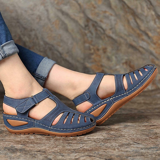 Woman Summer Vintage Wedge Sandals Buckle Casual Sewing Women Shoes Female Ladie