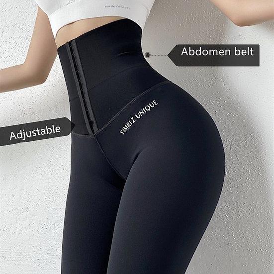 Shrink Abdomen High Waisted Yoga Pants Workout Legging Sports Women Fitness Gym