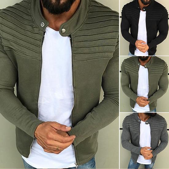 LITTHING Jacket Men Winter 2019 Autumn Streetwear Windbreaker Mens Clothing Plea