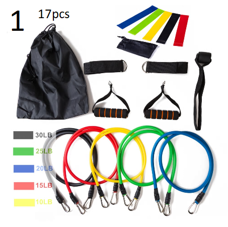 11Pcs/17Pcs/Set Latex Resistance Bands Gym Door Anchor Ankle Straps With Bag Kit