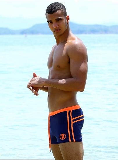 ESCATCH Mens Swimwear Maillot De Bain Boy Swim Suits Boxer Shorts Swim Trunks Me