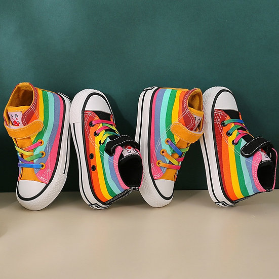 Kids Shoes for Girl Autumn 2020 New Children's High-Top Canvas Shoes Casual Wild