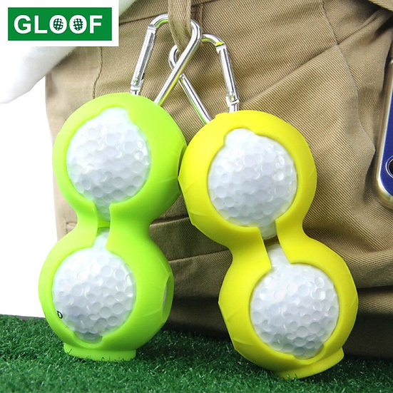 1Pcs Portable Golf Ball Protective Holder Cover Golf Ball Silicone Double Case
