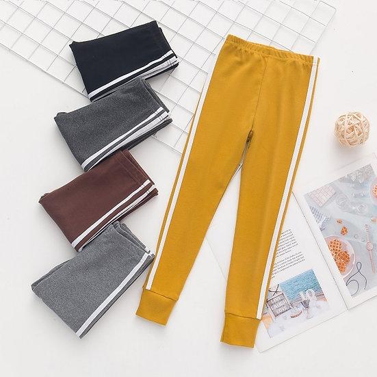 Autumn New Girls Leggings Solid Colors Sports Trousers Girl Leggings Children