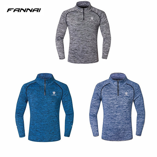 New Sport Men Quick Dry T-Shirt Long Sleeve Sport Top Sportswear Men Fitness