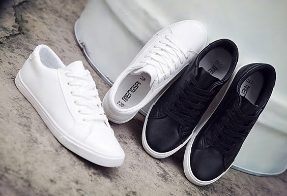 2018 new spring tenis feminino lace-up white shoes woman PU Leather solid color