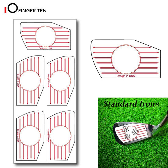 New Professional Golf Swing Training Aid Impact Tape Labels Stickers for Irons