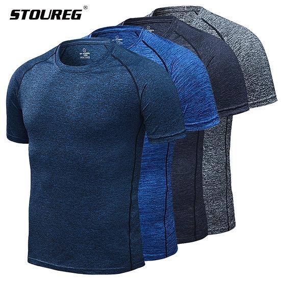 Men's Running T-Shirts, Quick Dry Compression Sport T-Shirts, Fitness Gym Runnin