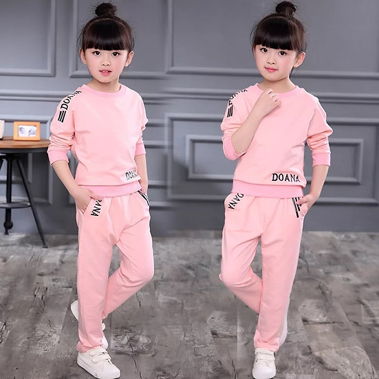 Girls Clothes Autumn Spring Long Sleeve Shirts + Pants Suits 6  8 9 10 12 Year