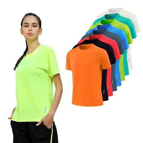Women Dry Quick Short Sleeve Slim Sport T Shirt Gym Jerseys Fitness Shirt