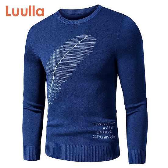 Men 2020 Autumn New Casual Classic Embroidery Thick Sweater Pullovers Men Winter