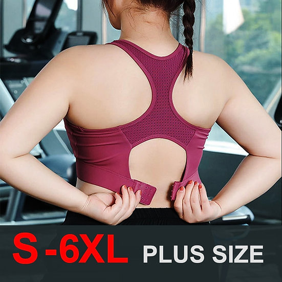 Cloud Hide S-6xl Sports Top Women Yoga Bra Push Up Brassiere BH Gym Shirt