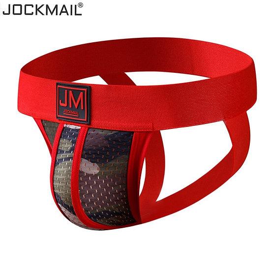 Men's Underwear Jockstrap Athletic Supporters, Camouflage Mesh Green Jock Strap