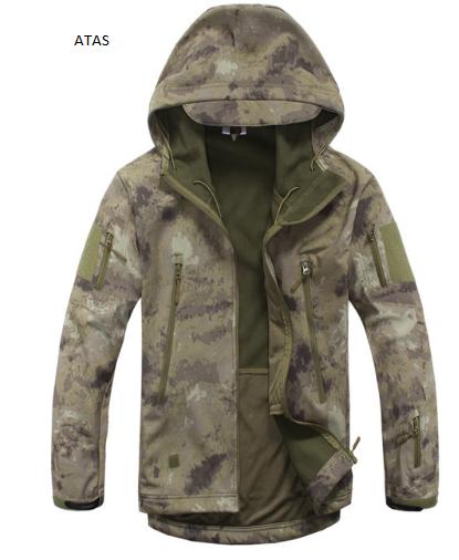 TACVASEN Army Camouflage Men Jacket Coat Military Tactical Jacket Winter Waterpr
