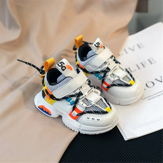 2020 New Kids Shoes Toddler Girls Boy Sneakers Lace Up Design Mesh Breathable