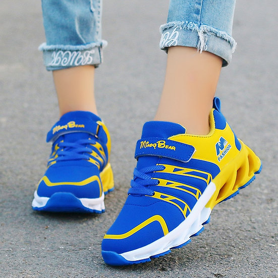 Autumn Kids Shoes Boys Sneakers Breathable Patchwork Hook&Loop Sport Running