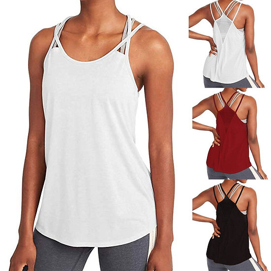 Woman T-Shirt for Fitness Sports Wear Women Gym Shirt Sport Yoga Top Tank Open
