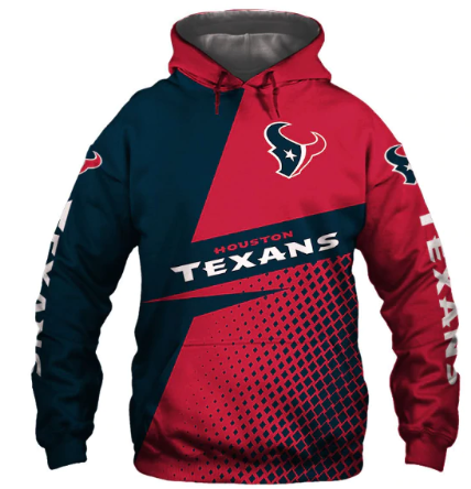 Usa Size Autumn Male Casual Hoodies Houston 3d Print Football Loose Sweatshirts