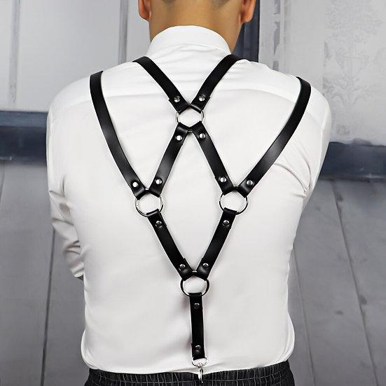 Leather Harness Belt Men Bdsm Bondage Pastel Goth Stocking Wedding Garter