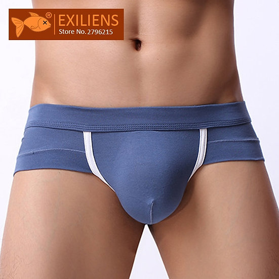 EXILIENS Brand New Underwear Men Brief Mens Briefs Sexy Ropa Fashion Modal Solid