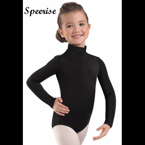 Speerise Girls Lycra Spandex Long Sleeve Turtleneck Leotard Ballet Gymnastics
