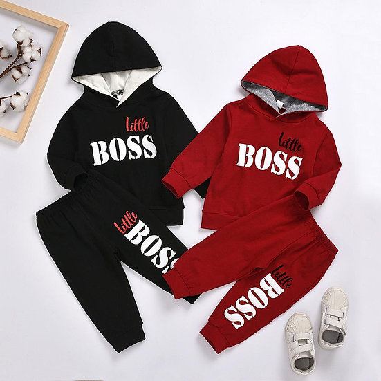 New Spring Autumn Children Baby Boys Casual Sets Long Sleeve Hoodies Tops Pants