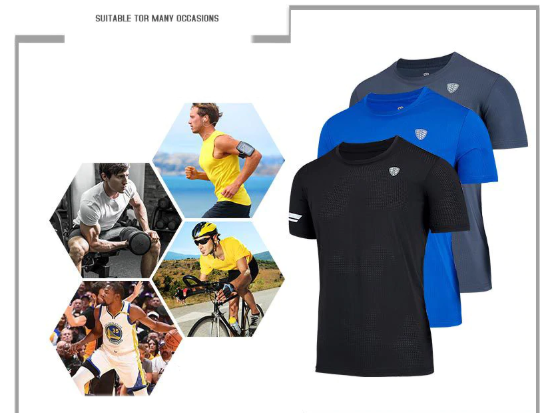 2019 New Quick Dry Running Shirt Fitness Tight Top T-shirt Sport Shirt Men Fitne