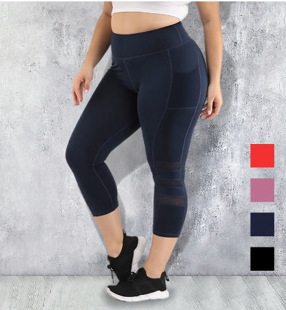 S-4XL Women Plus Size Pocket Tights Yoga Pants Fitness Leggings Push Up High wai