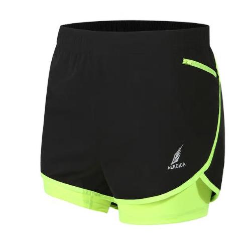 2 in 1 Men's Marathon Running Shorts Gym Shorts M-4XL Man Gym Short Pants Short