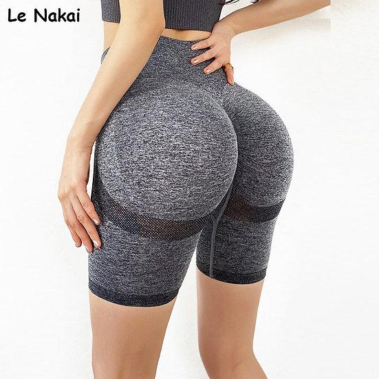 New Summer Seamless Yoga Short High Waist Biker Shorts Scrunch Butt Gym Shorts