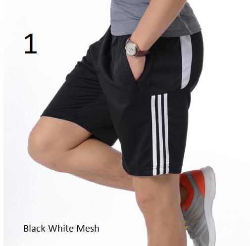 Summer New Gym Mens Sport Running Shorts Quick Dry Stripes Crossfit Short Pants
