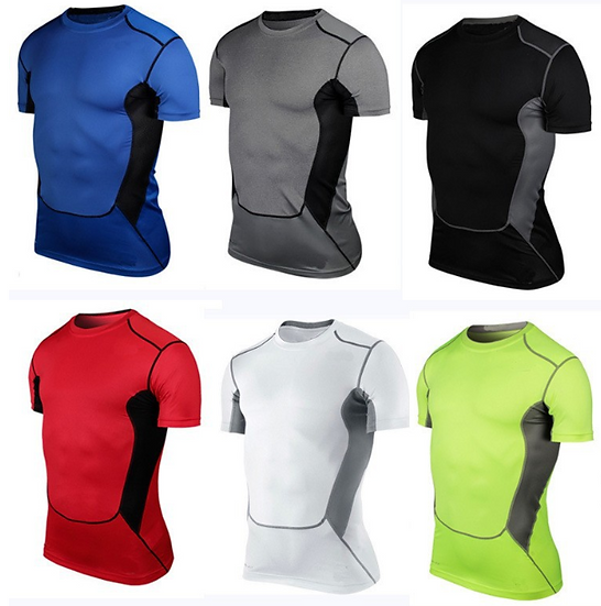 Men Boys Sports Running Gym Compression Muscle Base Layers Under Tops Shirts Th