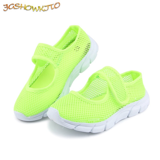 Candy Color Summer Breathable Air Mesh Children Shoes Single Net Cloth Kids